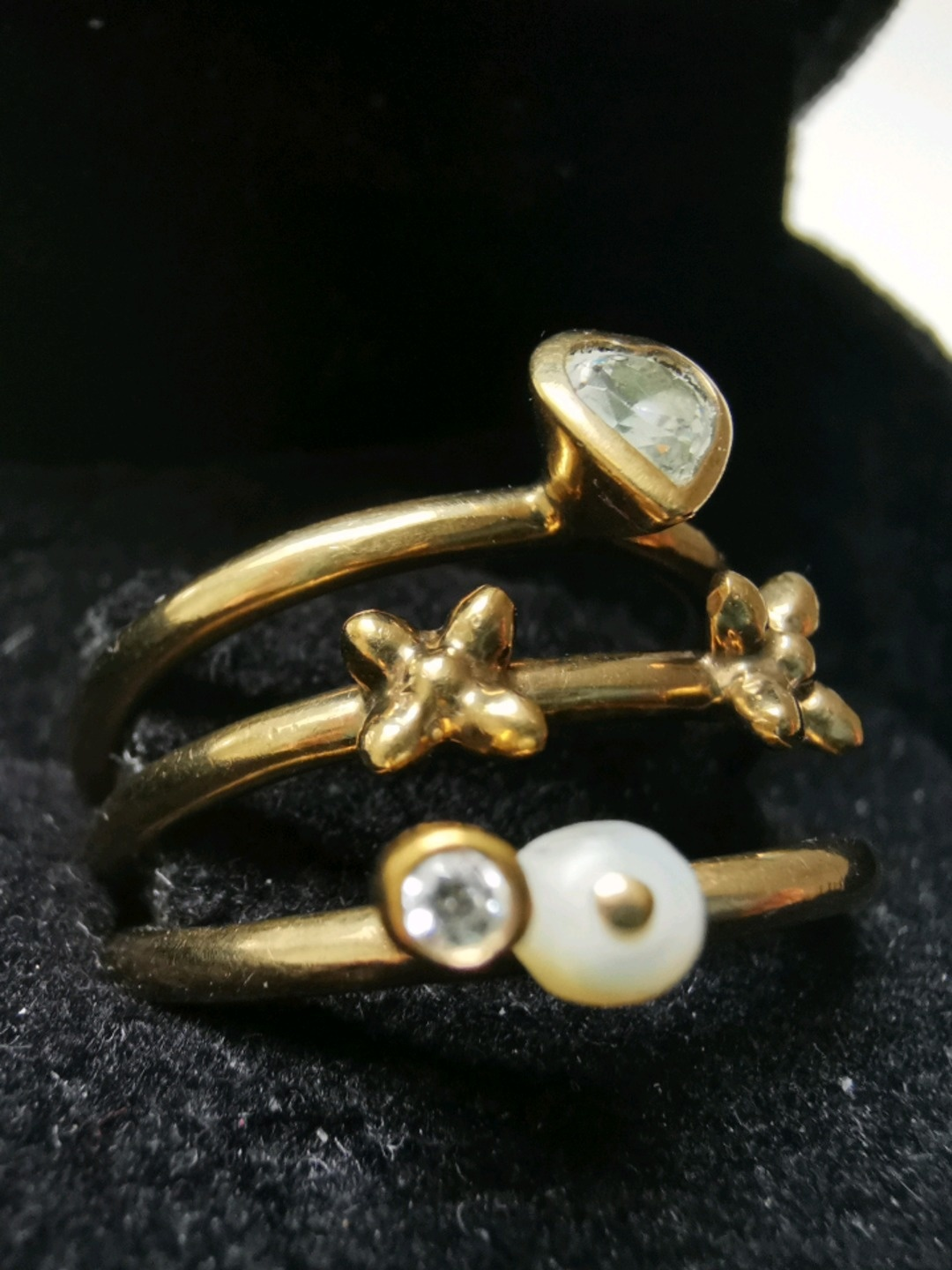 Women's jewellery & bracelets - SPINNING GULD RING 8 KARAT photo 2
