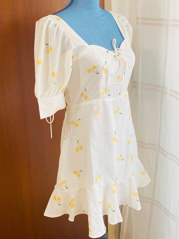 Women's dresses - WEISSES CHERRY KLEID photo 2