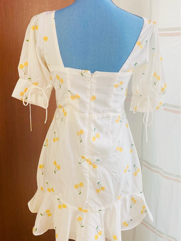 Women's dresses - WEISSES CHERRY KLEID photo 3