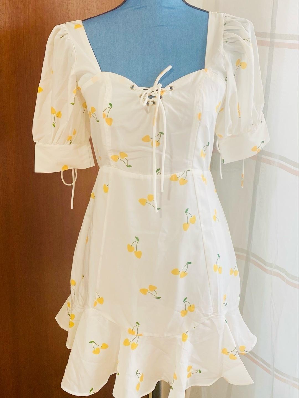 Women's dresses - WEISSES CHERRY KLEID photo 4